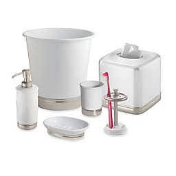 iDesign® York Bath Accessory Collection in Matte White