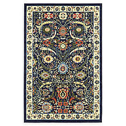 Unique Loom Cape Cod Isfahan Power-Loomed Area Rug in Navy Blue