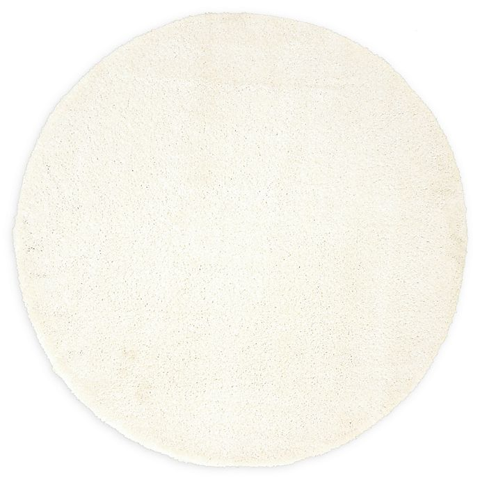 Alternate image 1 for Unique Loom Calabasas Solo 6' Round Power-Loomed Area Rug in Snow White