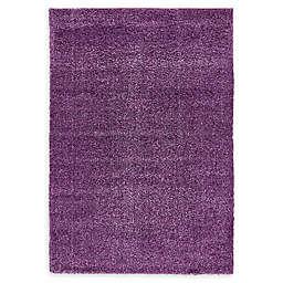 Unique Loom Calabasas Solo Power-Loomed Rug in Violet