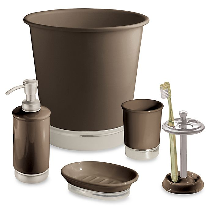 Alternate image 1 for iDesign™ York Matte Brown Bath Accessory Collection