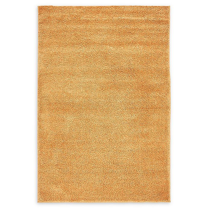 Alternate image 1 for Unique Loom Calabasas Solo 5' x 8' Power-Loomed Area Rug in Orange