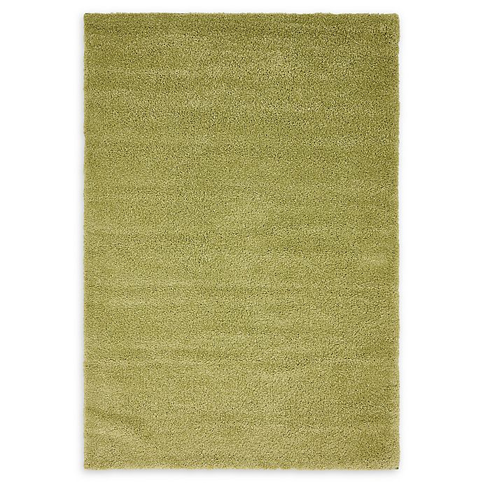 Alternate image 1 for Unique Loom Calabasas Solo 5' x 8' Power-Loomed Area Rug in Light Green