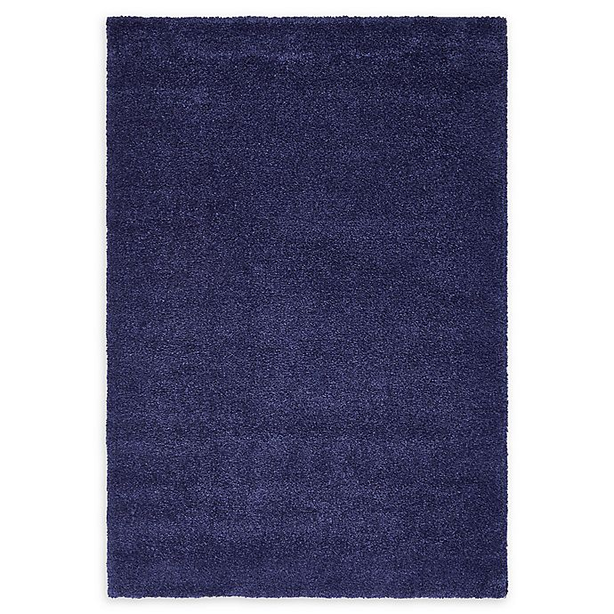 Alternate image 1 for Unique Loom Calabasas Solo Power-Loomed Rug in Navy