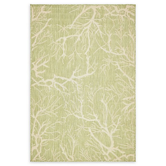 Alternate image 1 for Unique Loom Branch 4' x 6' Power-Loomed Indoor/Outdoor Area Rug in Light Green