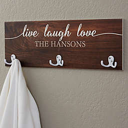 Live, Laugh, Love 3-Hook Coat Rack