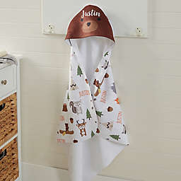 Woodland Adventure Bear Hooded Towel