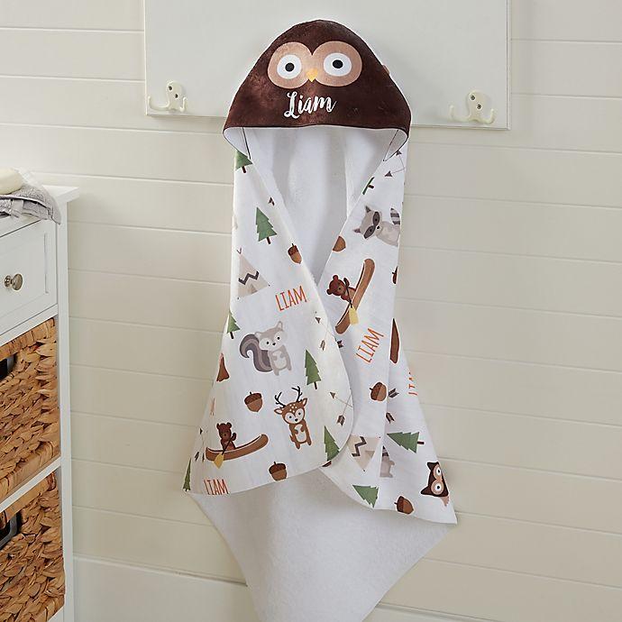 Alternate image 1 for Woodland Adventure Owl Hooded Towel
