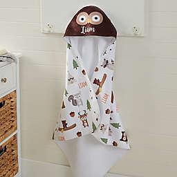 Woodland Adventure Owl Hooded Towel