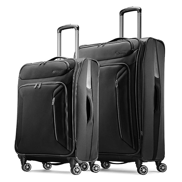 Alternate image 1 for American Tourister® Zoom Spinner Checked Luggage