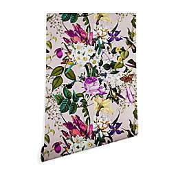 Deny Designs Marta Barragan Camarasa Bouquet Bird 2-Foot x 8-Foot Peel and Stick Wallpaper in Pink