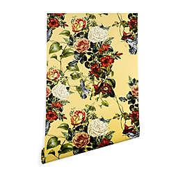 Deny Designs Marta Barragan Camarasa Bouquet Birds 2-Ft x 8-Ft Peel and Stick Wallpaper in Yellow