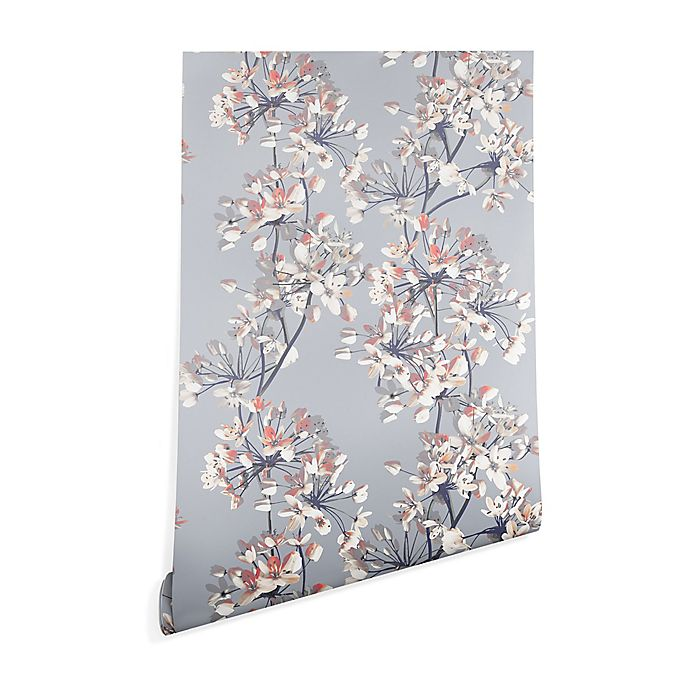 Alternate image 1 for Deny Designs Emanuela Carratoni Delicate Flower 2-Foot x 8-Foot Peel and Stick Wallpaper