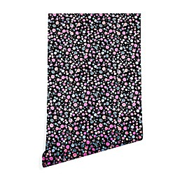 Deny Designs Ninola Design Galaxy Constellation Peel and Stick Wallpaper in Black