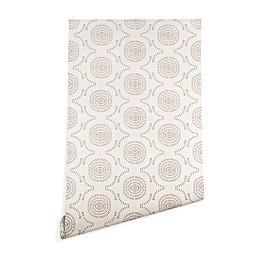 Deny Designs Holli Zollinger Wildflower Geo Peel and Stick Wallpaper in Brown