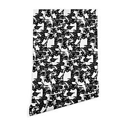 Deny Designs Sharon Turner Just Penguins Peel and Stick Wallpaper in Black