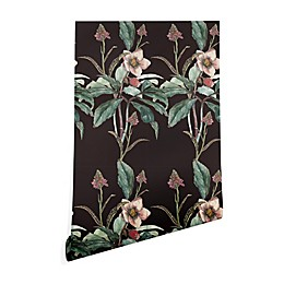 Deny Designs Cayena Blanca Dramatic Garden Peel and Stick Wallpaper in Black