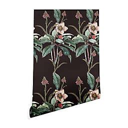 Deny Designs Cayena Blanca Dramatic Garden Peel and Stick Wallpaper in Black