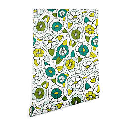 Deny Designs Heather Dutton Tropical Bloom 2-Foot x 8-Foot Peel & Stick Wallpaper in Green