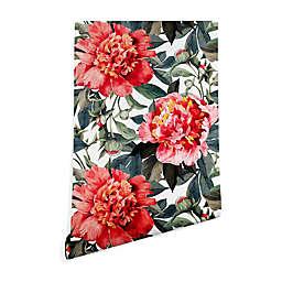 Deny Designs Marta Barragan Camarasa Big Red Flowers Peel and Stick Wallpaper