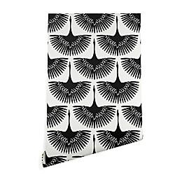 Deny Designs Caroline Okun Majestic Crane Wallpaper in Black