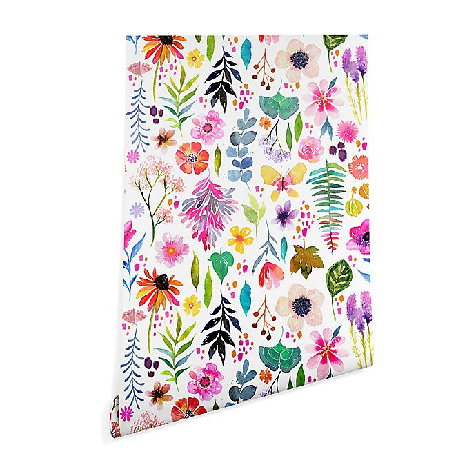 Alternate image 1 for Deny Designs Stephanie Corfee Garden Baby 2-Foot x 4-Foot Wallpaper in White
