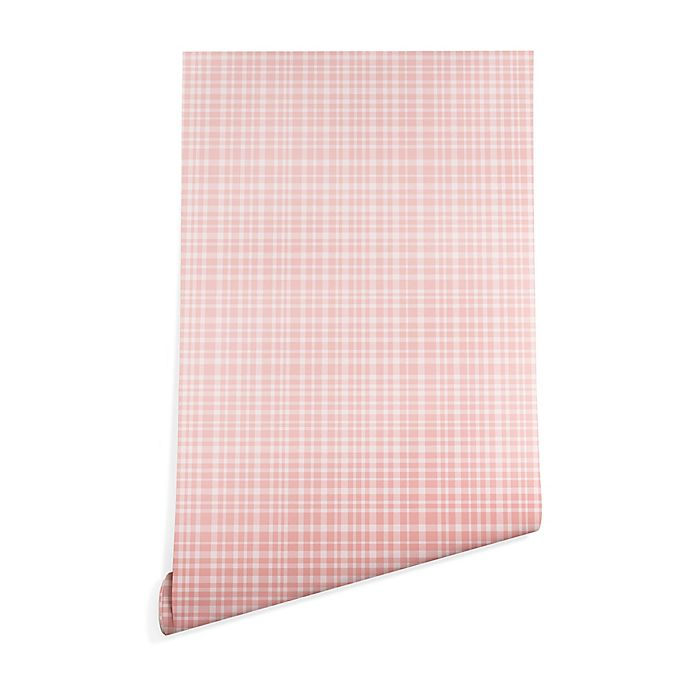 Alternate image 1 for Deny Designs Blushed Weave 2-Inch x 4-Inch Peel and Stick Wallpaper in Pink