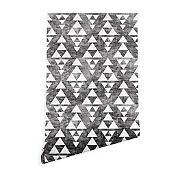 Deny Designs Holli Zollinger Stacked Peel and Stick Wallpaper in Grey