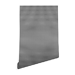 Deny Designs Caroline Okun Ebony Gingham Peel and Stick Wallpaper in Black