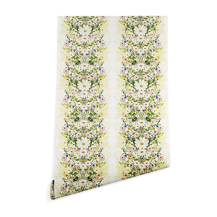 Alternate image 1 for Deny Designs Iveta Abolina Blondelle 2-Foot x 8-Foot Wallpaper in White