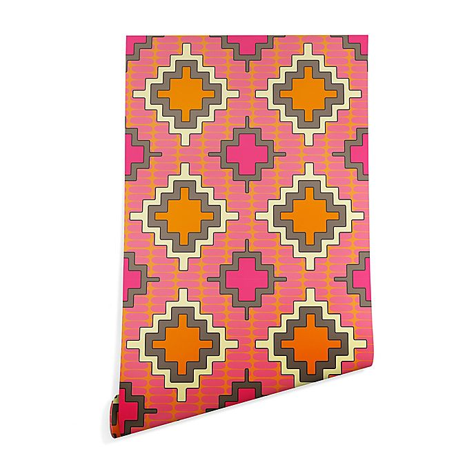 Alternate image 1 for Deny Designs Sharon Turner Tangerine Kilim 2-Foot x 16-Foot Peel and Stick Wallpaper