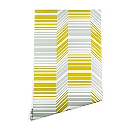 Deny Designs Heather Dutton Delineate Citron Peel and Stick Wallpaper