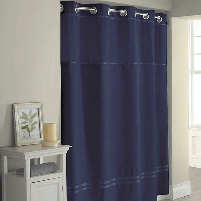 Alternate image 1 for Hookless® Escape 71-Inch x 74-Inch Shower Curtain in Navy