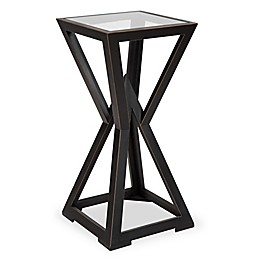 Kate and Laurel Yogi Small Wood Side Table in Black
