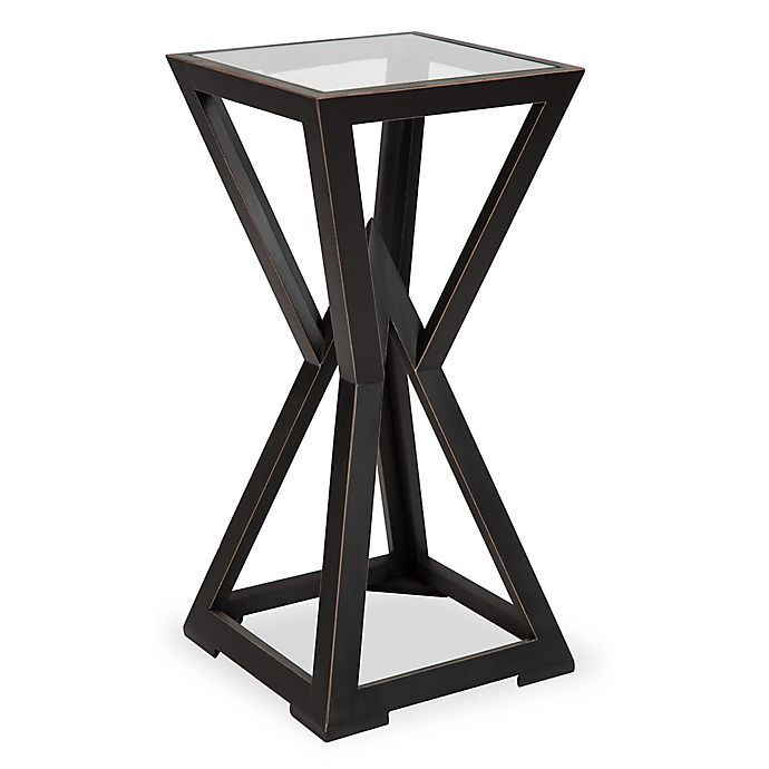 Alternate image 1 for Kate and Laurel Yogi Small Wood Side Table in Black