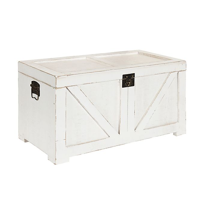 Alternate image 1 for Kate and Laurel Cates Storage Chest in White