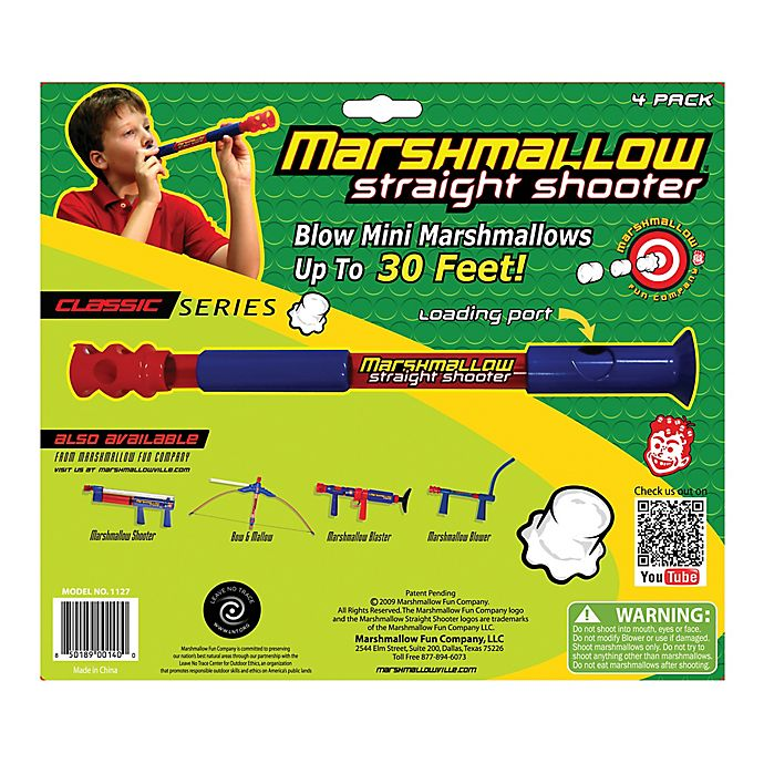 Alternate image 1 for Marshmallow Fun Company 4-Pack Classic Straight Shooter