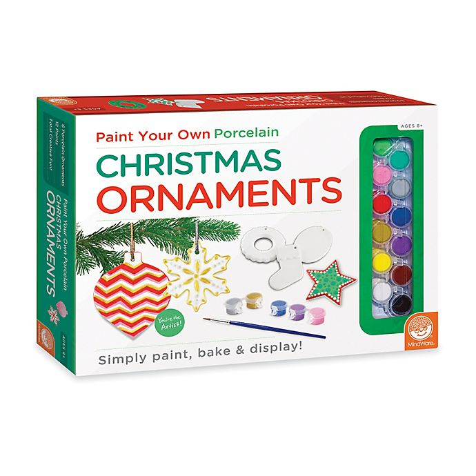 Alternate image 1 for MindWare Paint Your Own Christmas Ornaments