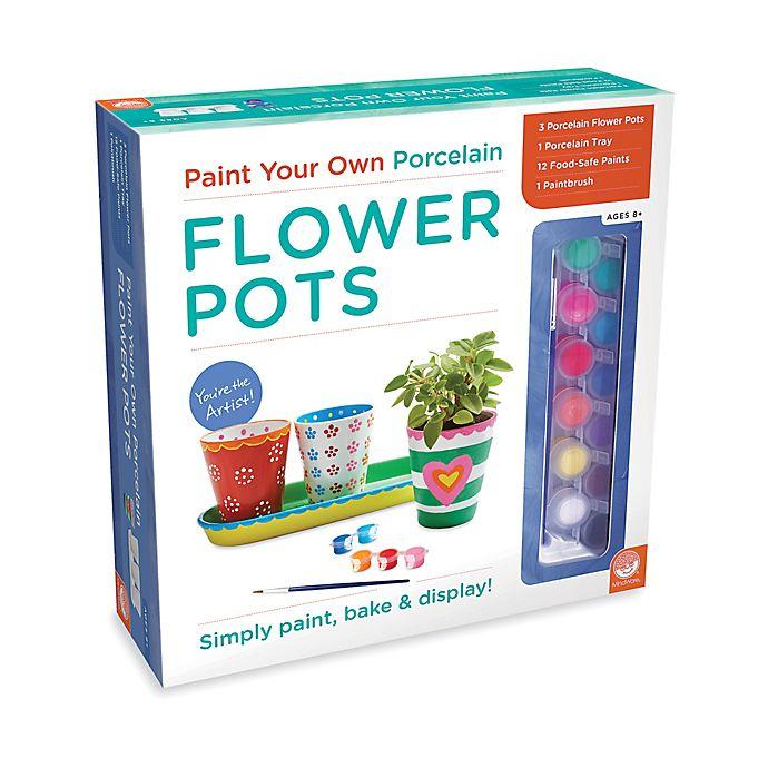 MindWare Paint Your Own Porcelain Flower Pots | Bed Bath