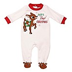 Rudolph the Red Nosed Reindeer Size 3M Velour Sleep and Play in Ivory