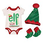 """Baby Starters® Size 6M 3-Piece """"Elf Size"""" Bodysuit, Hat, and Booties Set"""