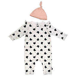 Mini Heroes™ 2-Piece Cats Coverall and Cap Set in White