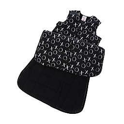 Gunapod® Adjustable Wearable Blanket with WONDERZiP® in Black/White XO