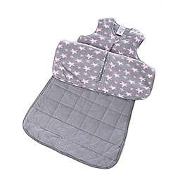 Gunapod® Adjustable Wearable Blanket with WONDERZiP® in Grey/Pink Stars
