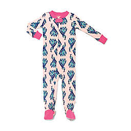 Rosie Pope® Peacocks Snug-Fit Pajama in Pink/Blue