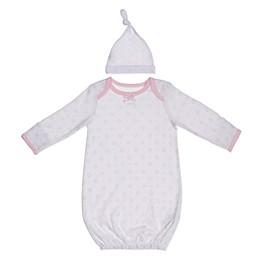 Sterling Baby Preemie 2-Piece Stars Hat and Gown Set in Pink