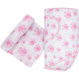 Miracle Blanket® Elephant Swaddle in Pink