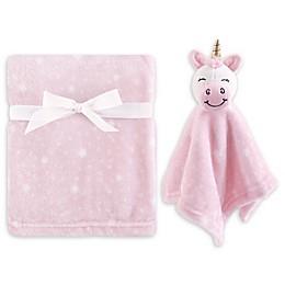Hudson Baby® 2-Piece Unicorn Security Blanket Set in Pink