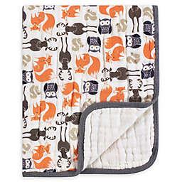Hudson Baby® Forest Muslin Tranquility Blanket in Beige