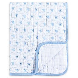 Hudson Baby® Sheep Muslin Tranquility Blanket in Blue